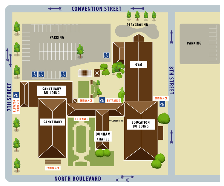 Holy Family Campus Map.First Presbyterian Baton Rouge