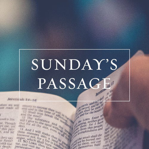Upcoming Sermon Passages